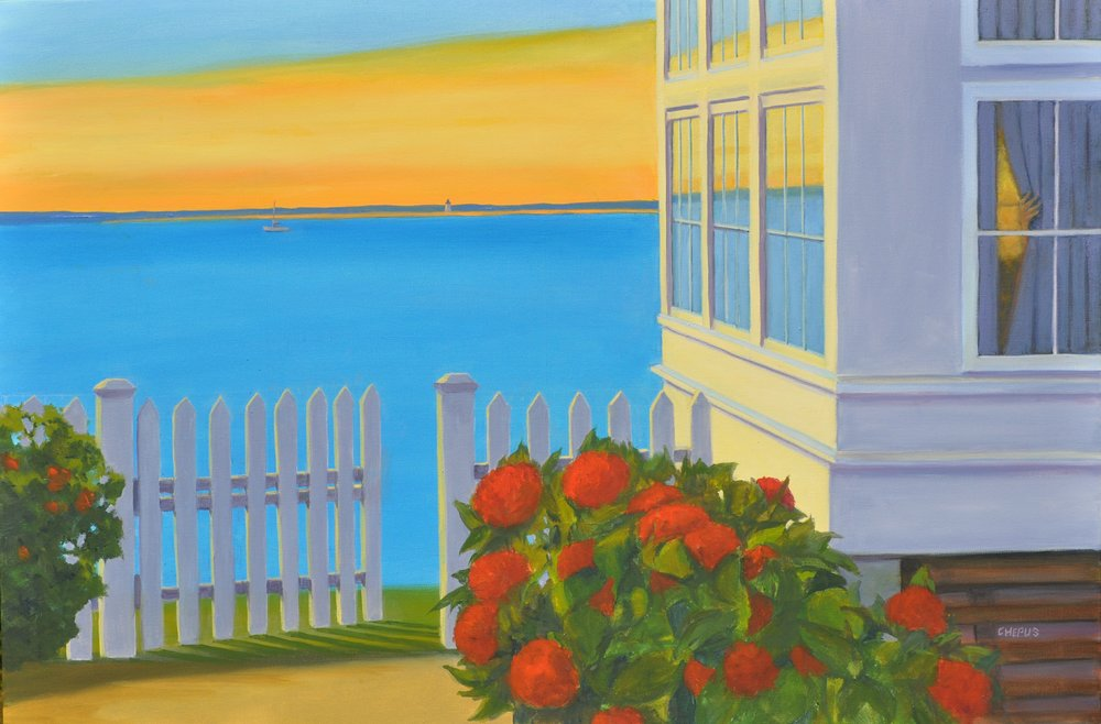 2017 Sunset Provincetown West End  oil 24x36.jpg