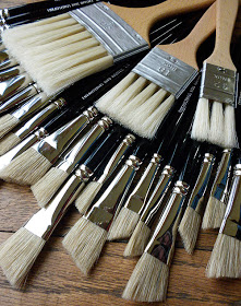 Slotted and hog bristle brushes