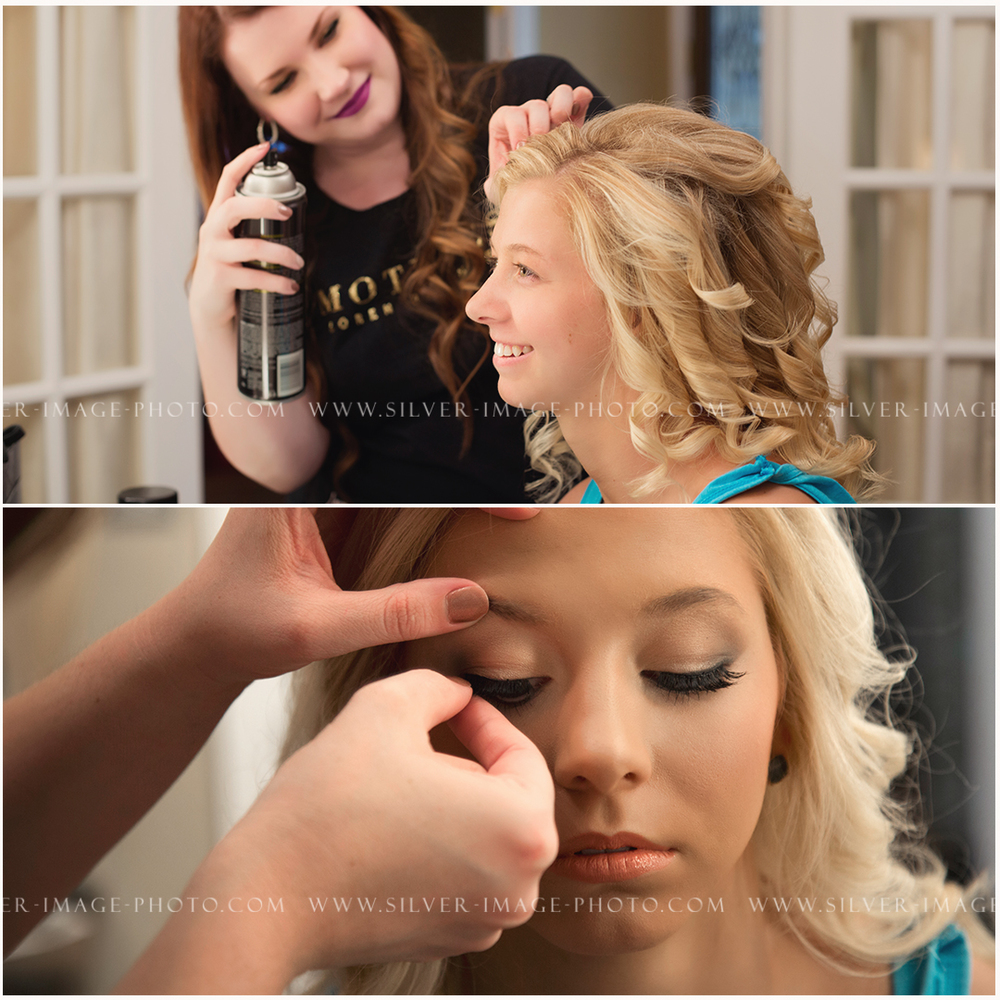 Make-up artist Emily working her magic!
