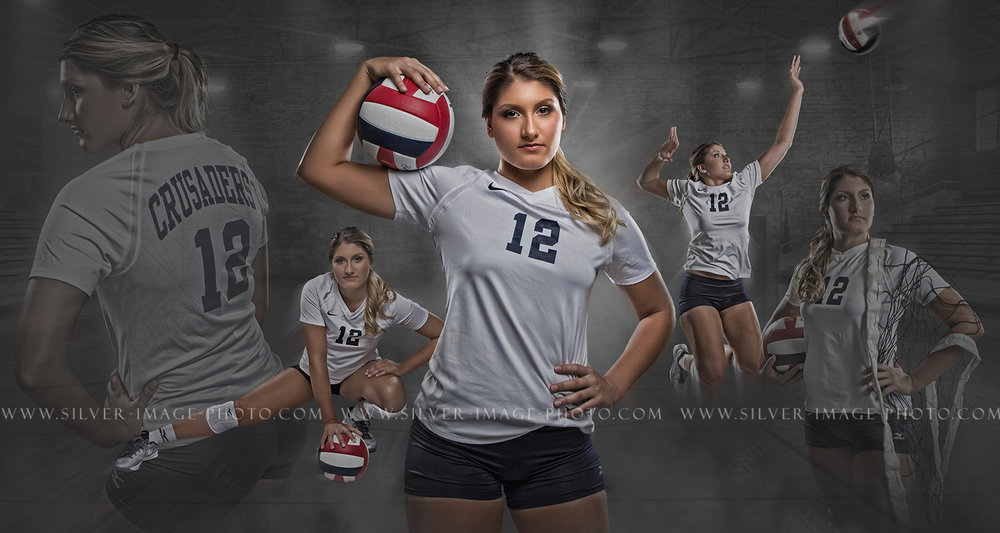 Senior Volleyball Pictures in Texas | Concordia Lutheran High School | www.silverimagephotoseniors.com