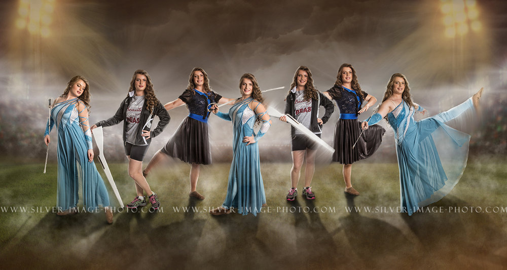 Senior Drill Team Photos in Texas | Magnolia High School | www.silverimagephotoseniors.com