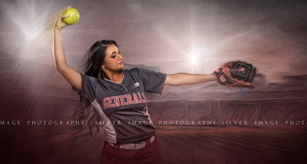 Senior Softball Photos in Texas | MacAuthur High School | www.silverimagephotoseniors.com