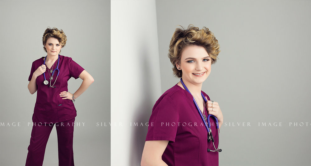 Senior HOSA Pictures in Texas | Huntsville High School | www.silverimagephotoseniors.com