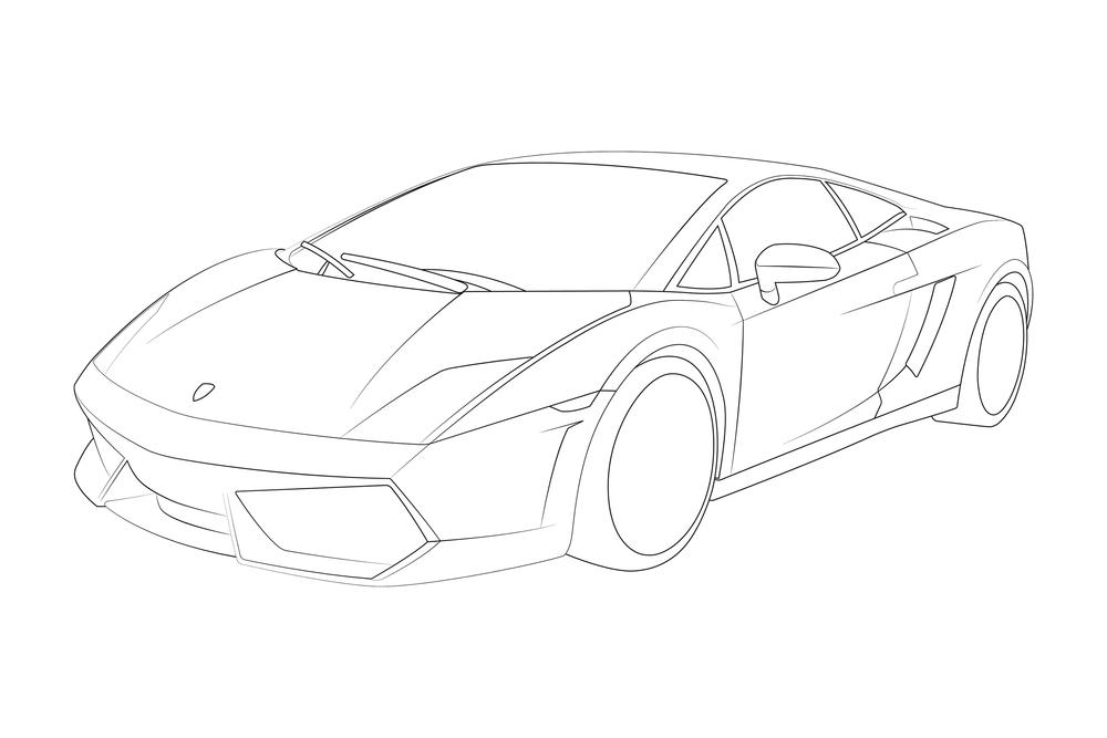 Lamborghini Gallardo Lineart
