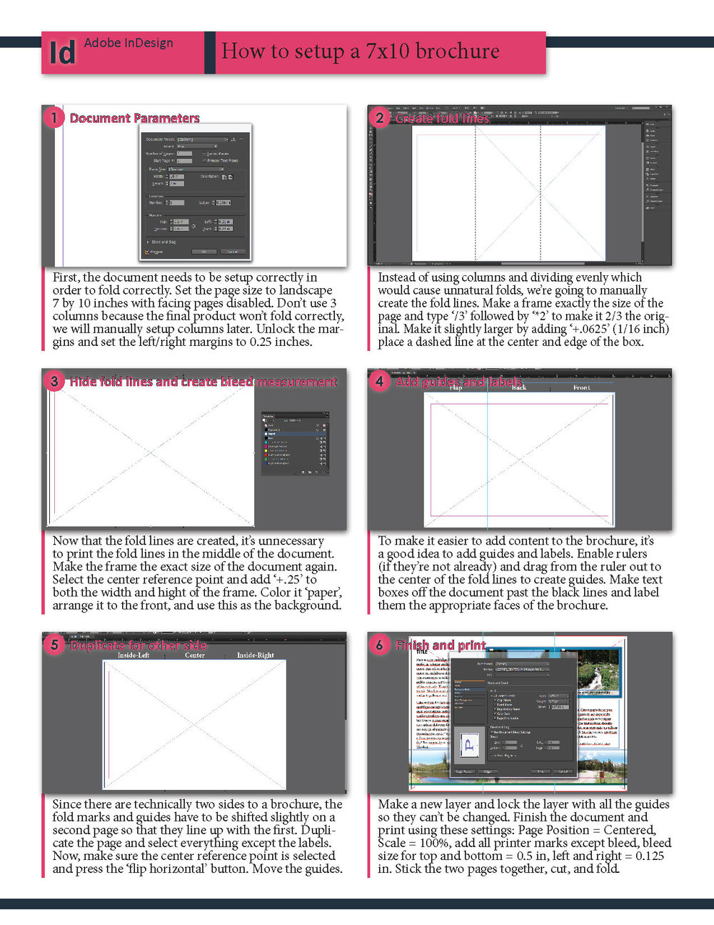 InDesign: Set up a 7x10 brochure