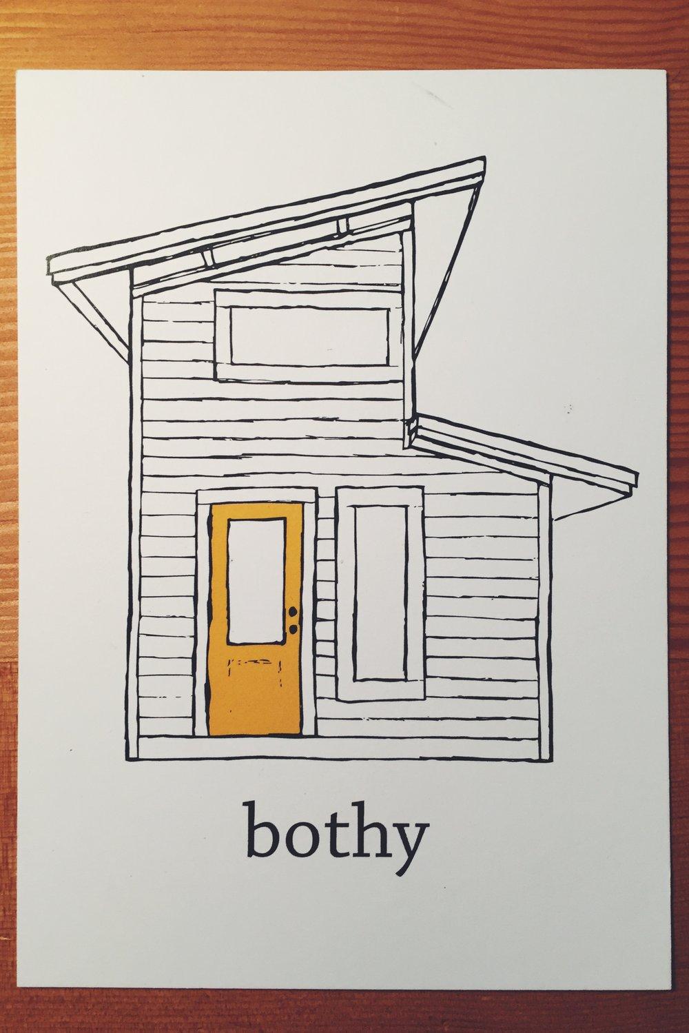 Bothy postcard on desk.jpg