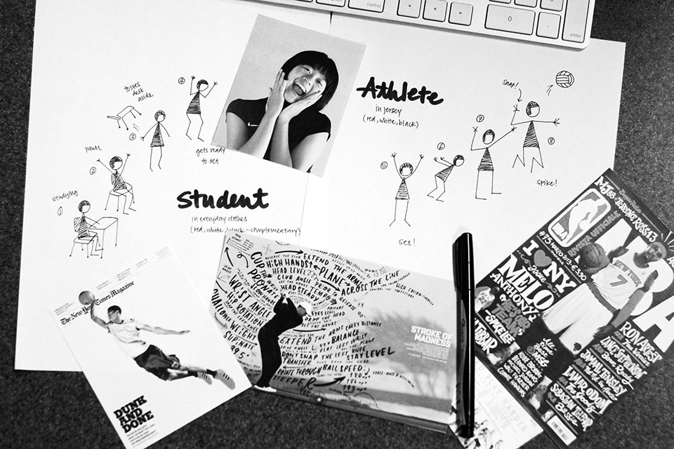 Inspiration + our final storyboard.