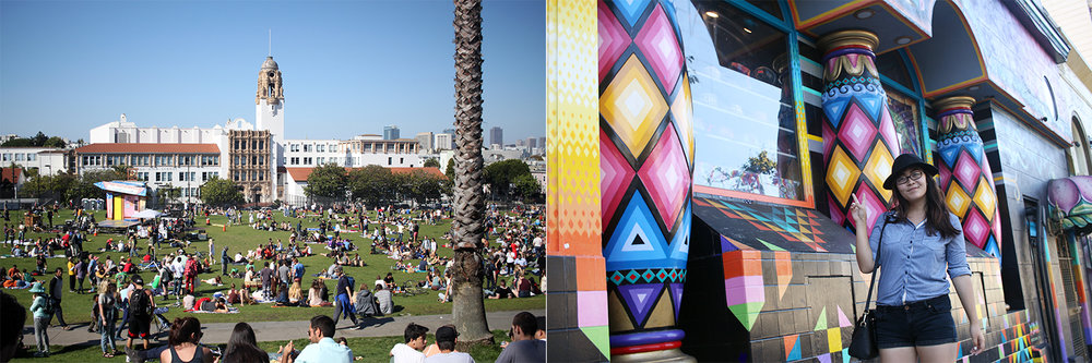 Dolores Park, Castro, Haight Ashbury