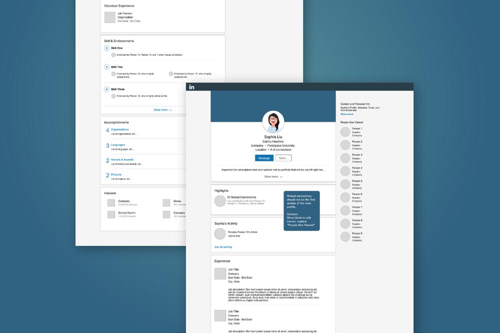 """UI/UX Design: """"Linkedin for Creatives"""""""