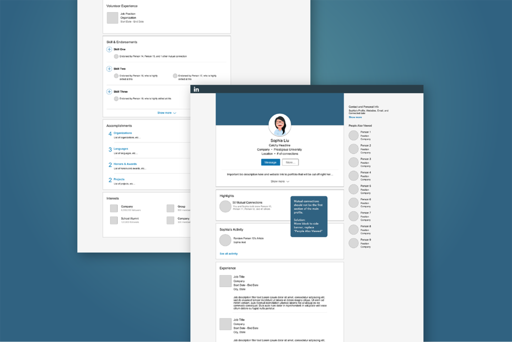 "UI/UX Design: ""Linkedin for Creatives"" Redesign"