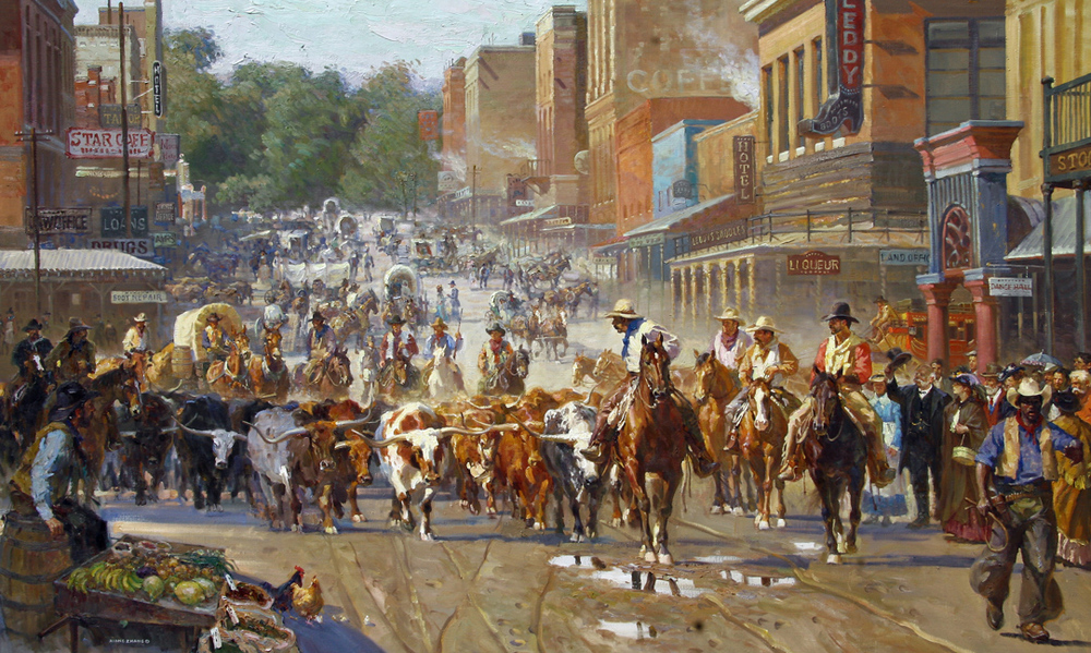 "Arriving Fort Worth 50"" x 82"" SOLD"
