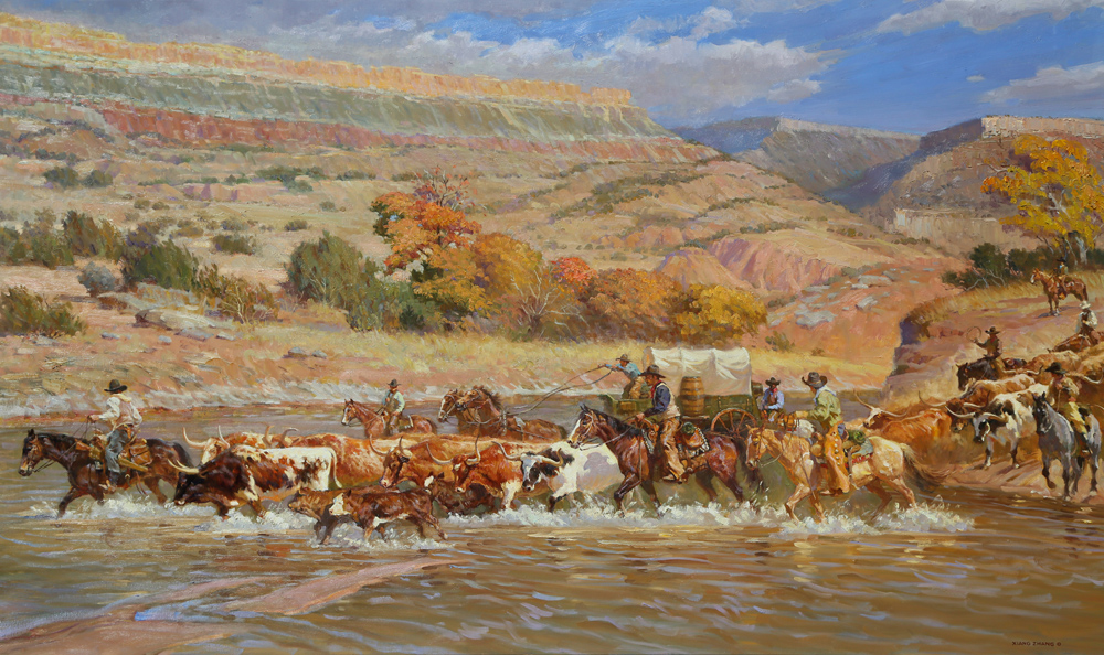 "Morning Drive in Palo Duro 48"" x 80""  SOLD"