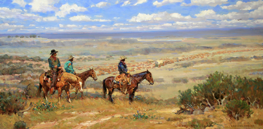 "Texas Trail 36"" x 60"" SOLD"