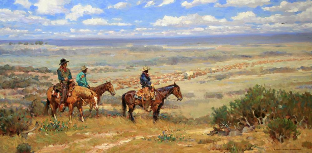"Texas Trail 36"" x 60"" SOLD"
