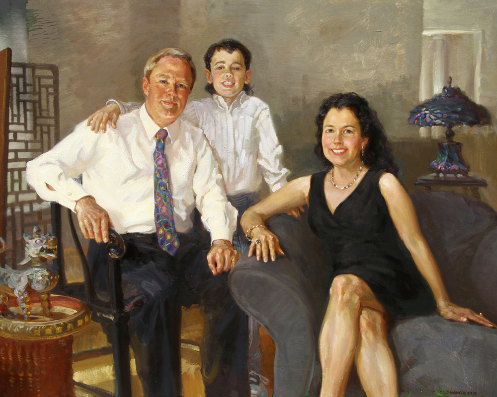 "Family Portrait 42"" x 50"""