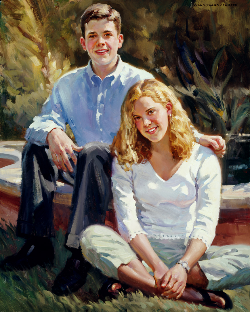 "John and Cindy 50"" x 40"""