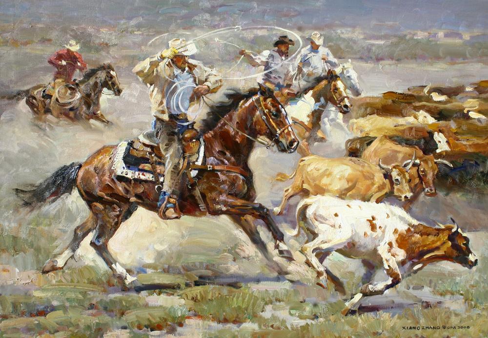 """At Ken's Ranch 28"""" x 40"""" SOLD"""