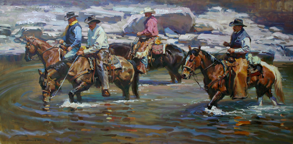 "The River Trail  32"" x 64""  SOLD"