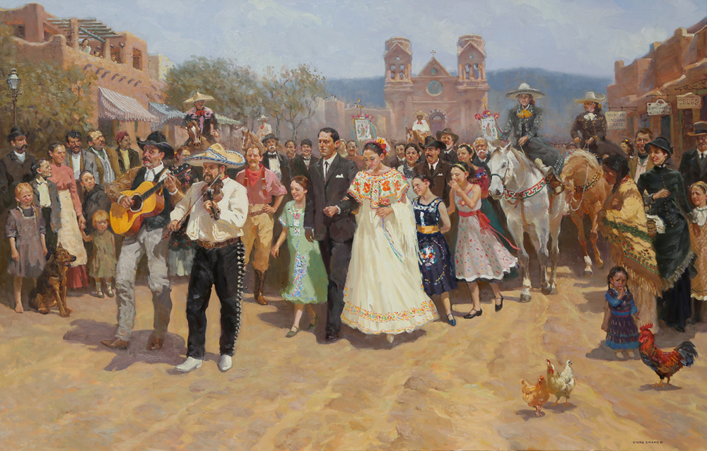 "Santa Fe Wedding 46"" x 72"" SOLD"