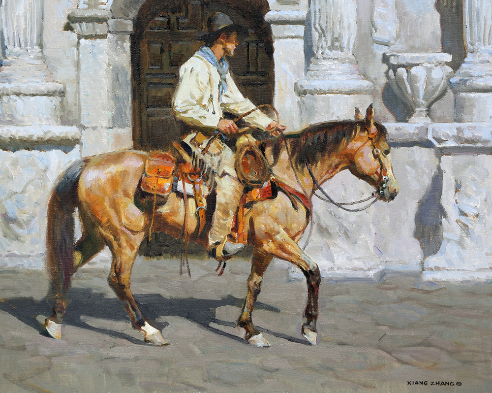 """Recalling the Alamo (16""""x20"""")"""
