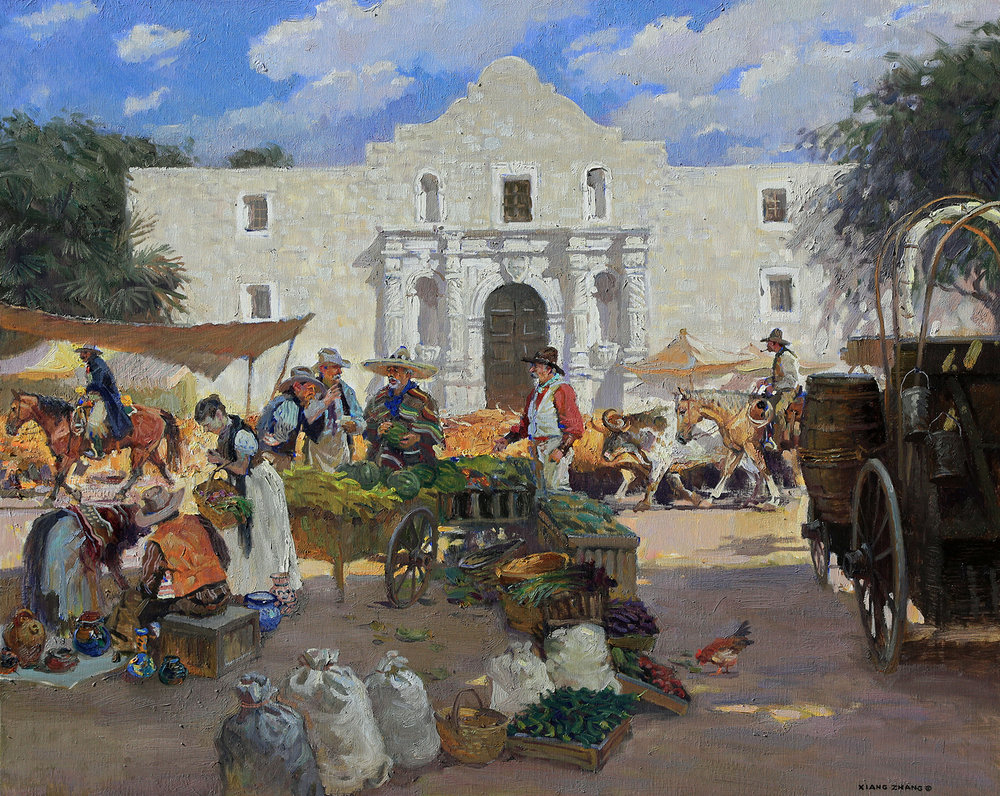 "Morning Market Provisions 32"" x 40"" SOLD"