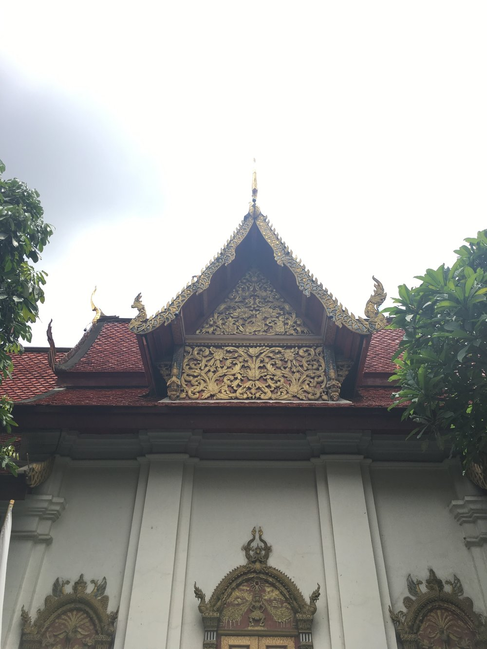 The nearest temple to our hotel.