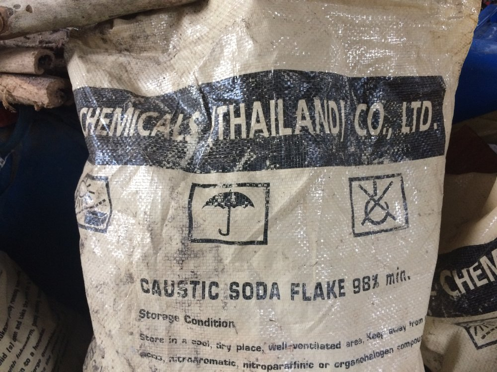 Bag of soda ash.