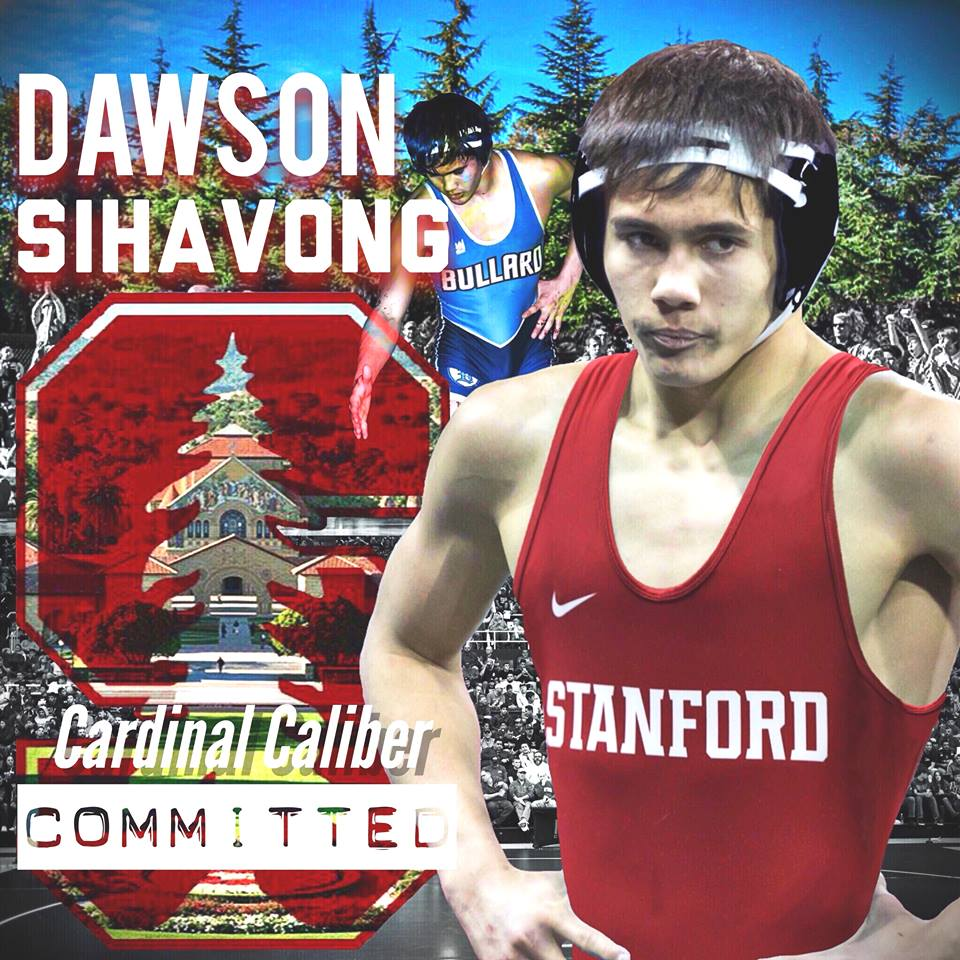 Dawson Sihavong (Bullard) is a Stanford commit who is a 2018 Junior National Finalist in Greco