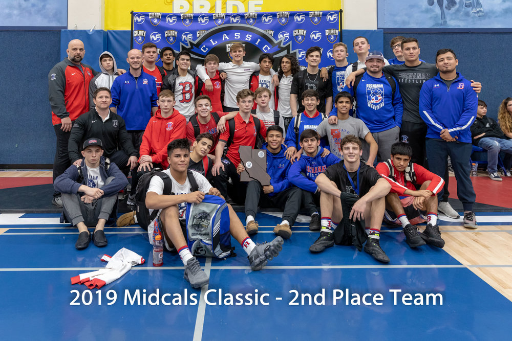 Buchanan High School from Clovis, CA is the 2019 MidCals 2nd Place Team