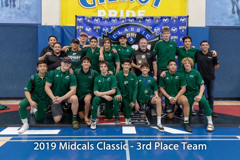 Poway High School is the 2019 MidCals 3rd Place Team