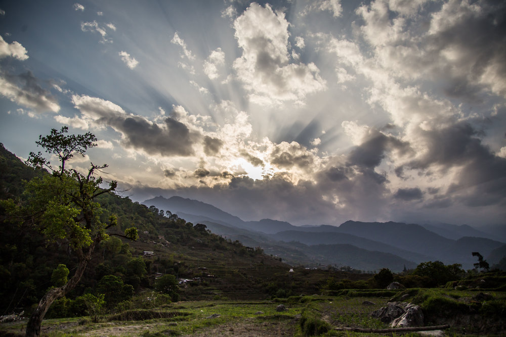 The vast and beautiful terrain of Bhutan, from one of my recces
