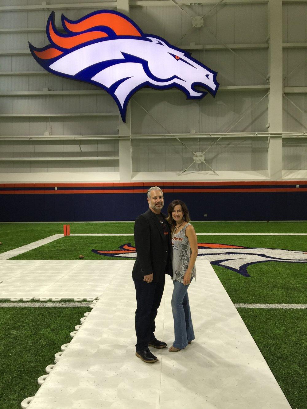 @BrigetteModglin & @JayModglin at Broncos Training Center in Dove Valley