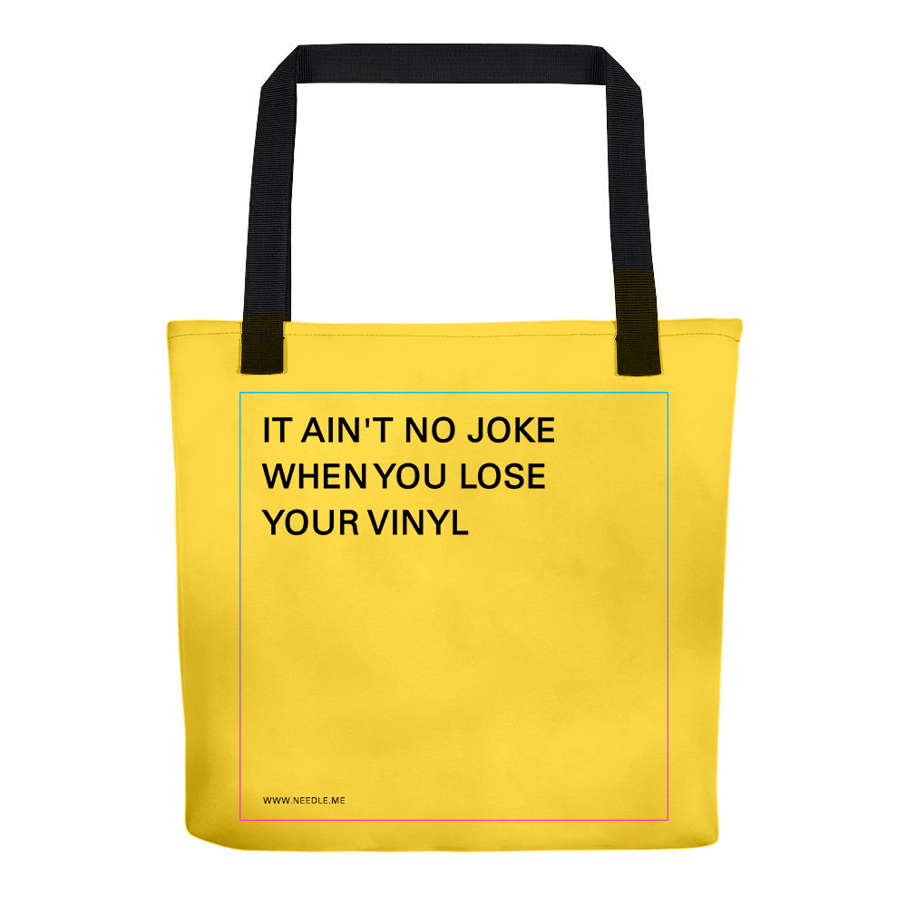 RECORD TOTE - Available in Saffron, White and Black. Fits 15 records!
