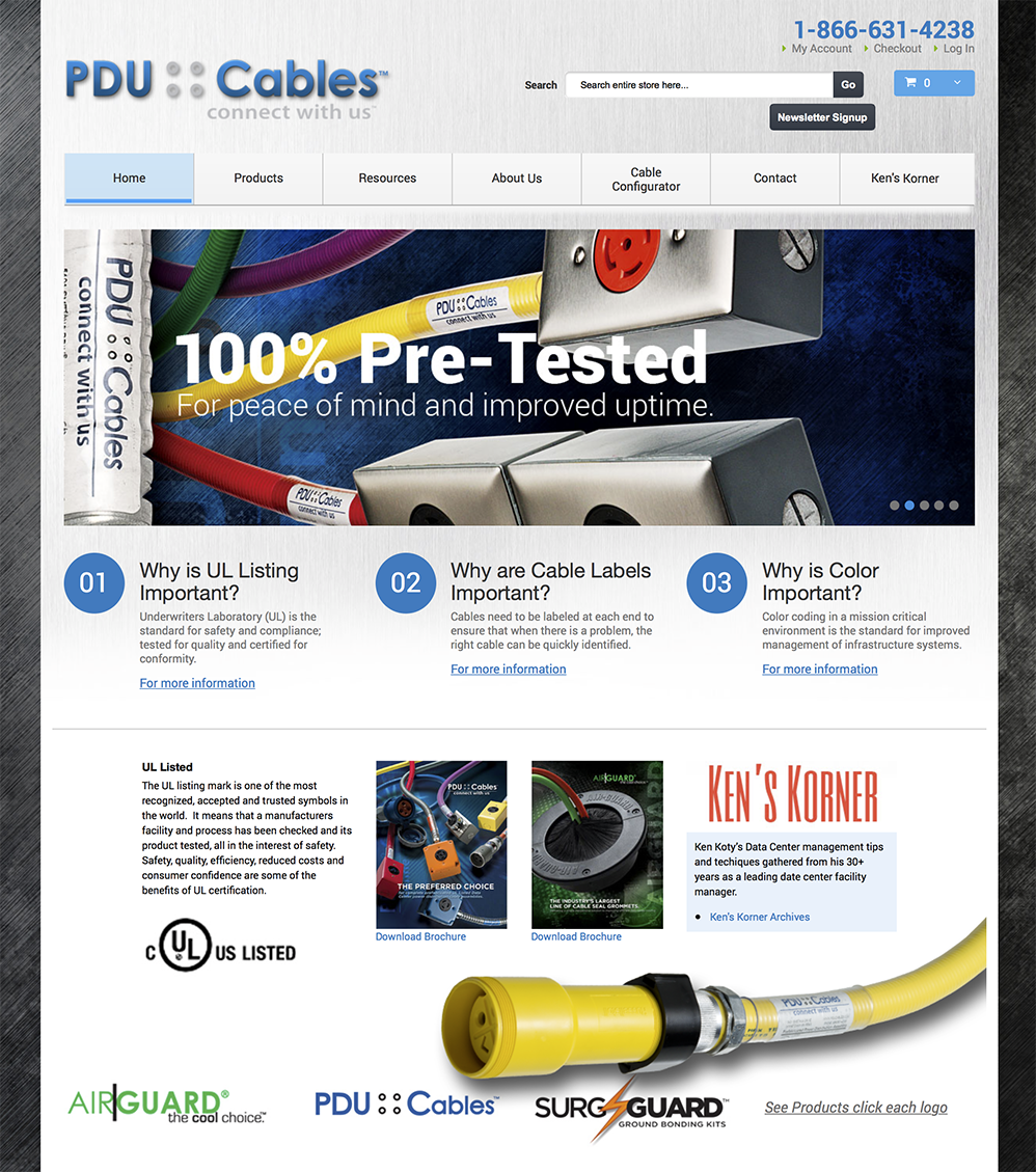 PDU Cables Website