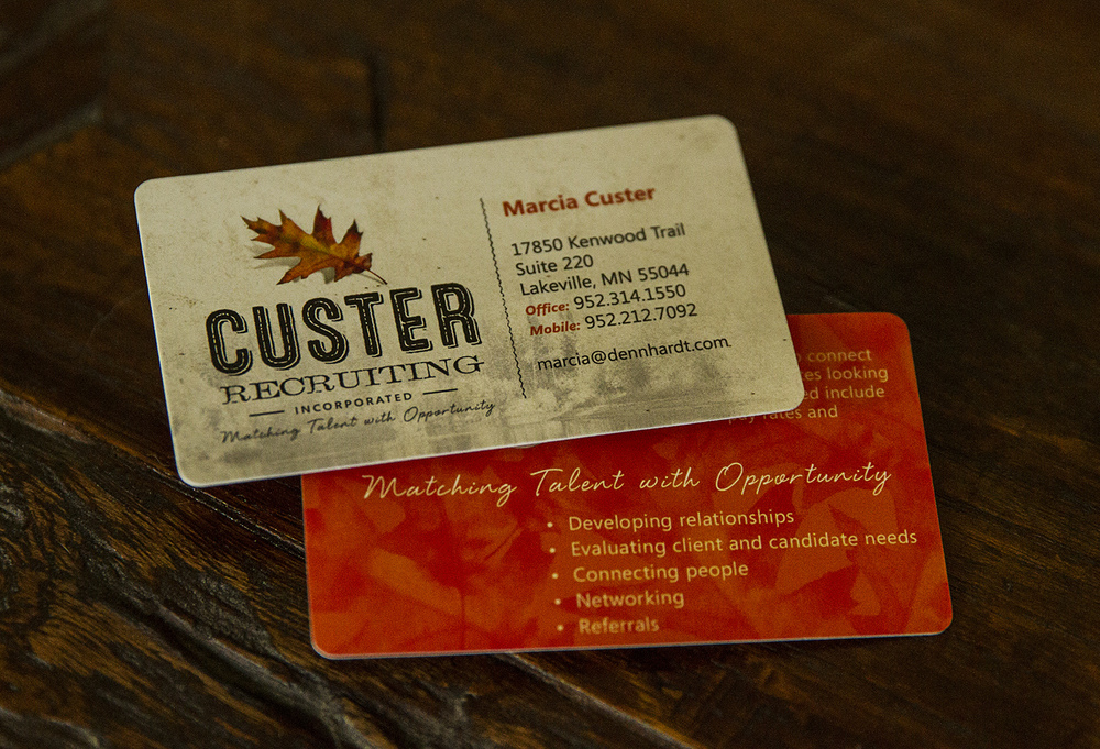 Custer Recruiting Logo Design and Business Card