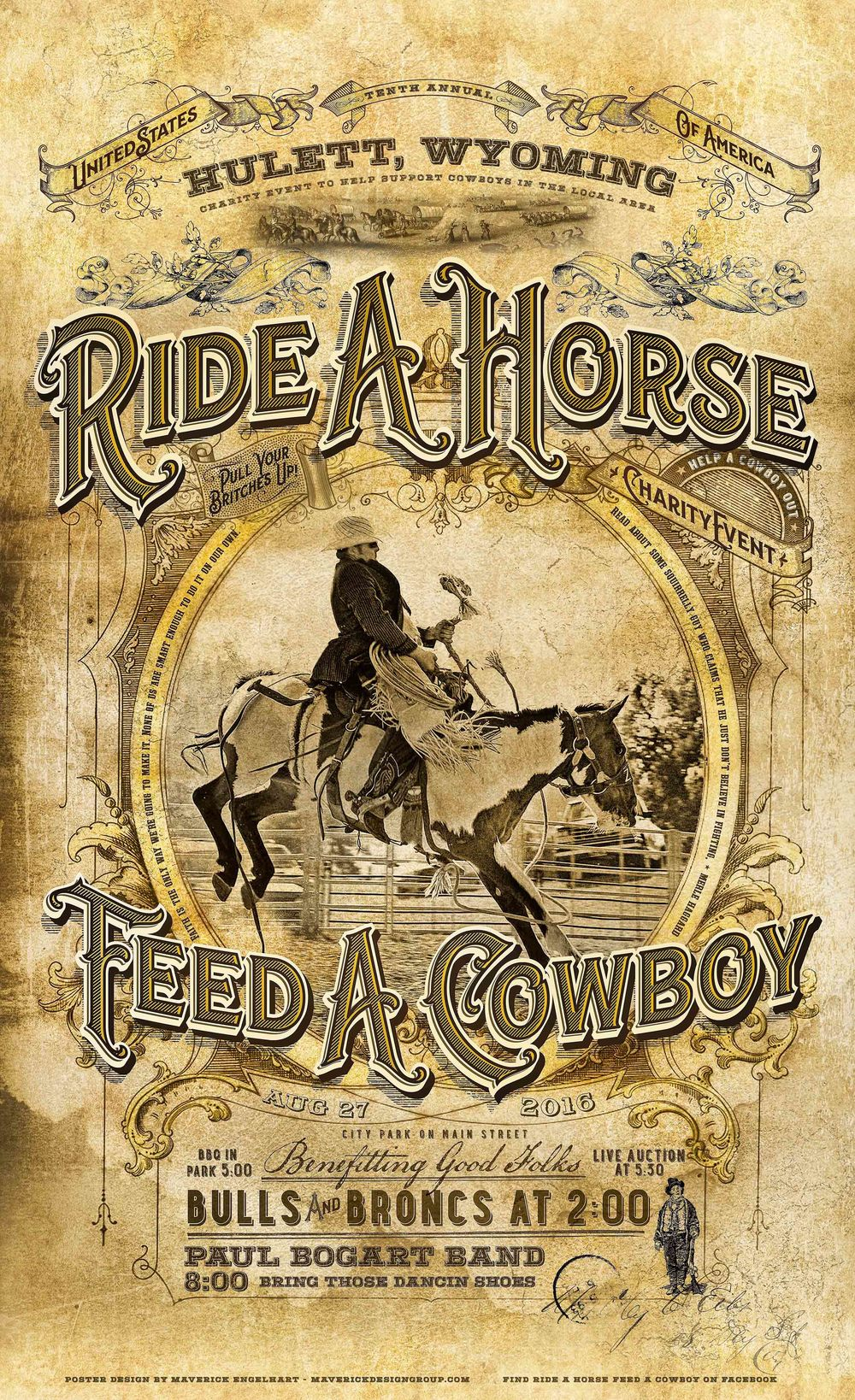 2016 Ride A Horse Feed A Cowboy Charity Event Poster