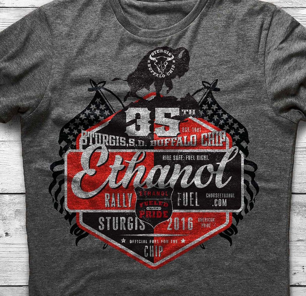 2016 RFA Ethanol Fuel Buffalo Chip Shirt Design