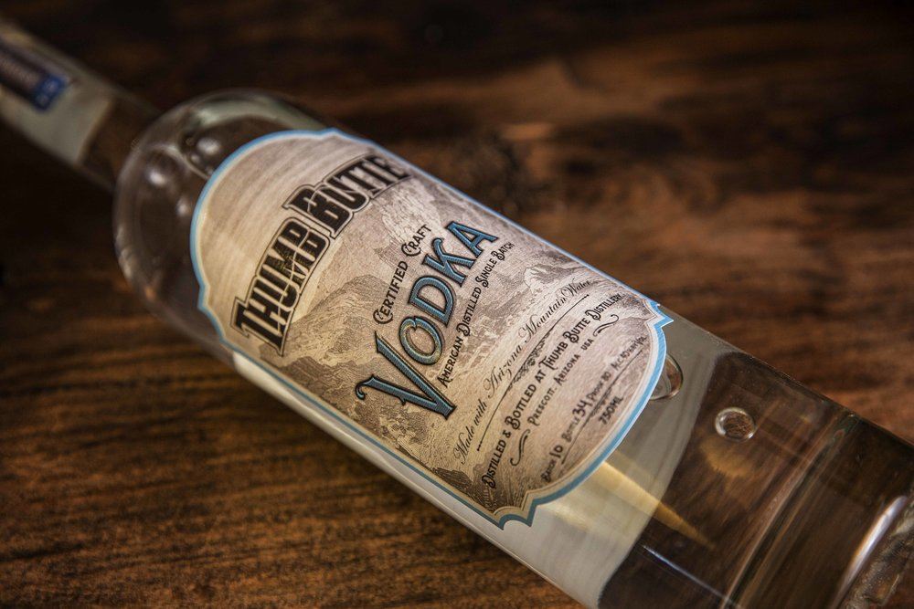 Vodka Label Design for Thumb Butte Distillery