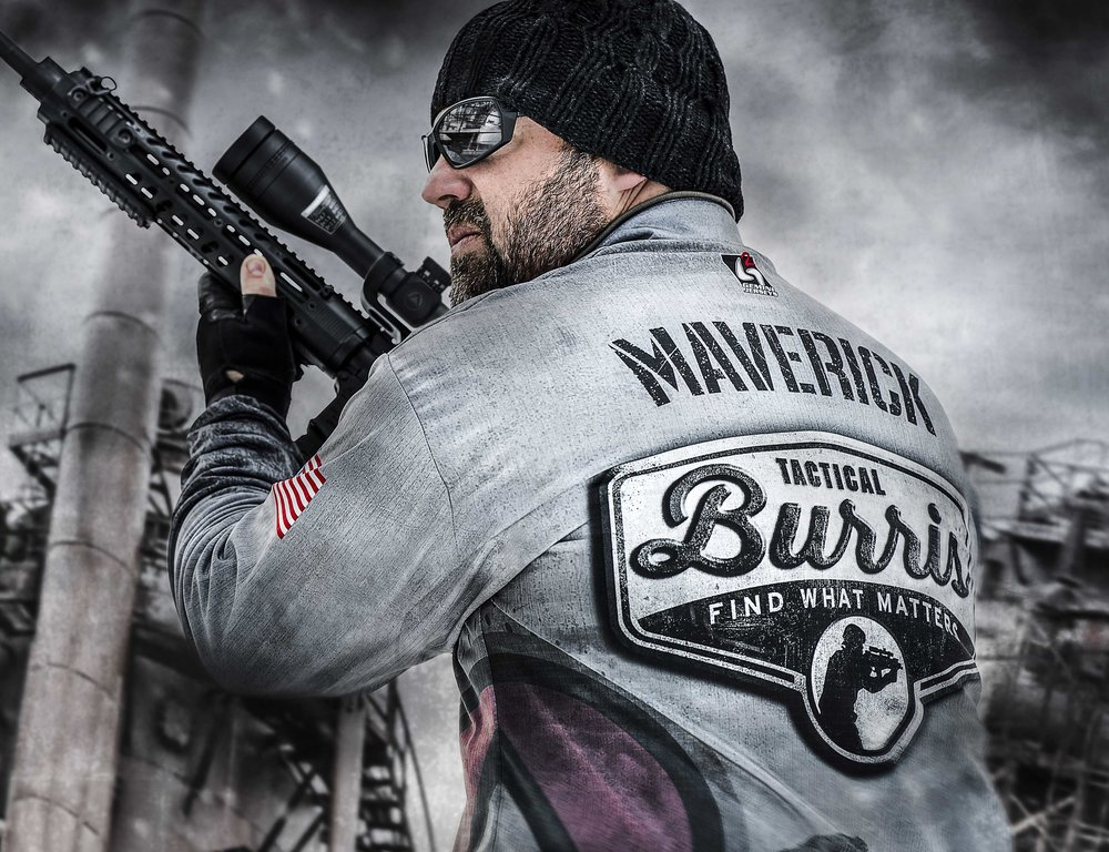 Competition shooting shirt design for Burris Optics