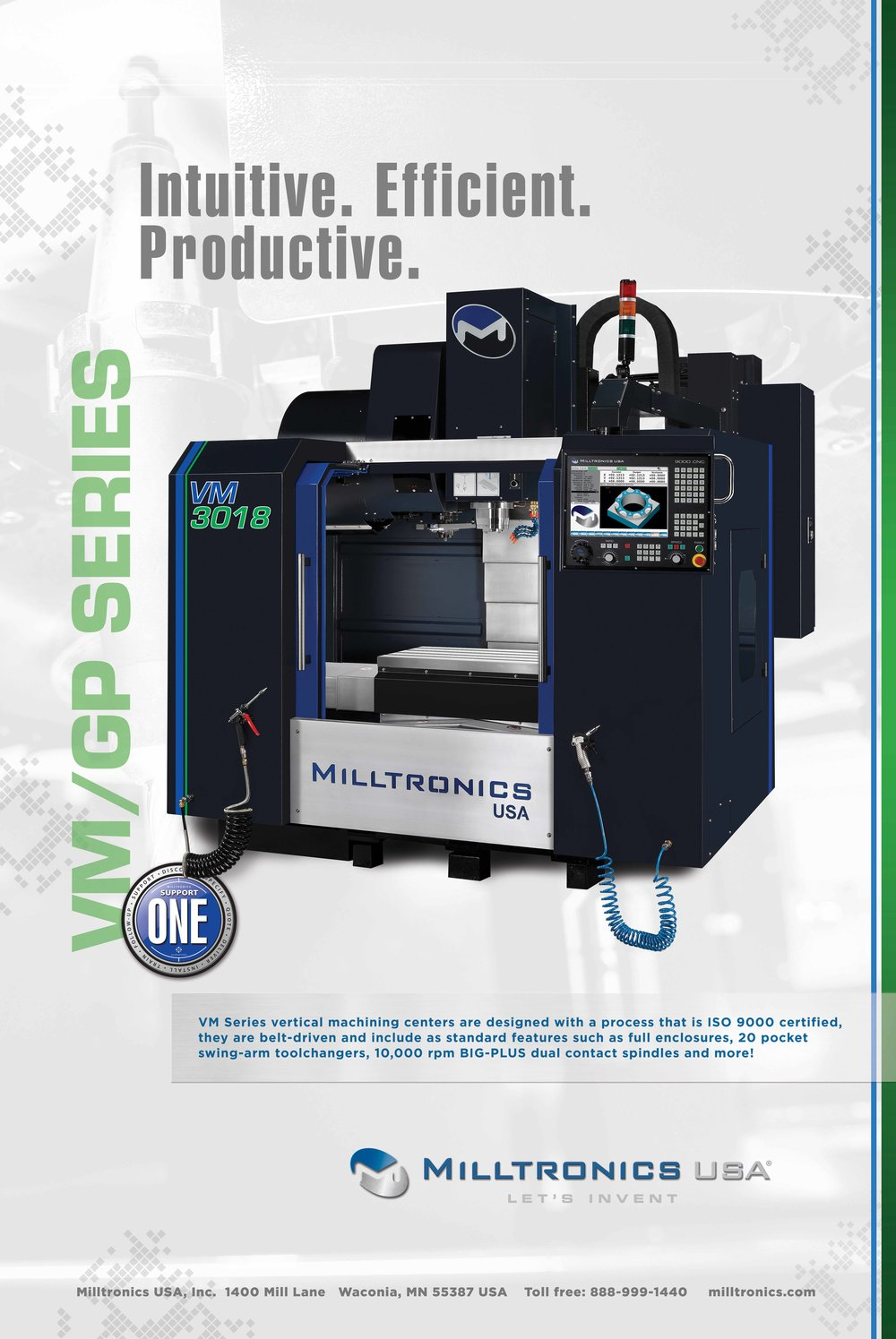 Poster design for Milltronics USA CNC Machines