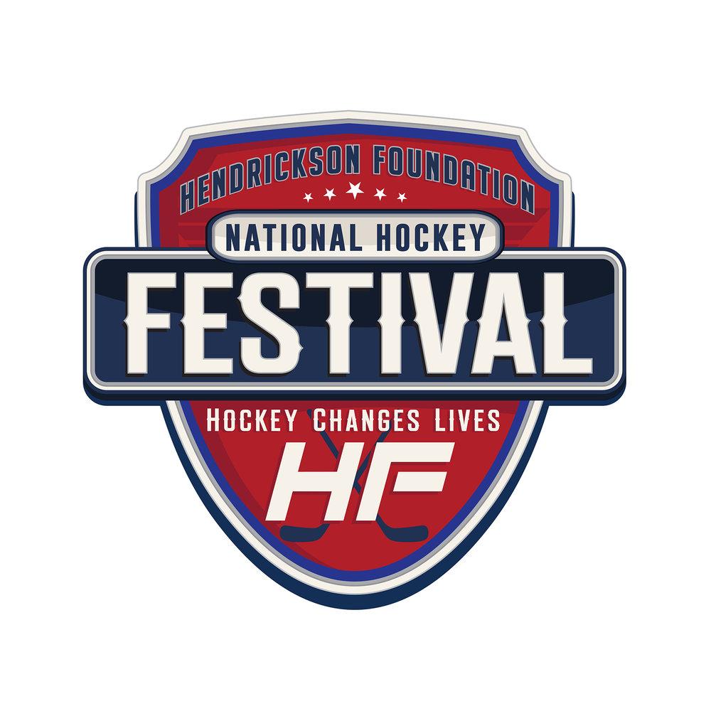 Hendrickson Foundation National Hockey Festival Logo Design