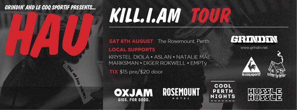Hau Kill.I.Am Tour Poster