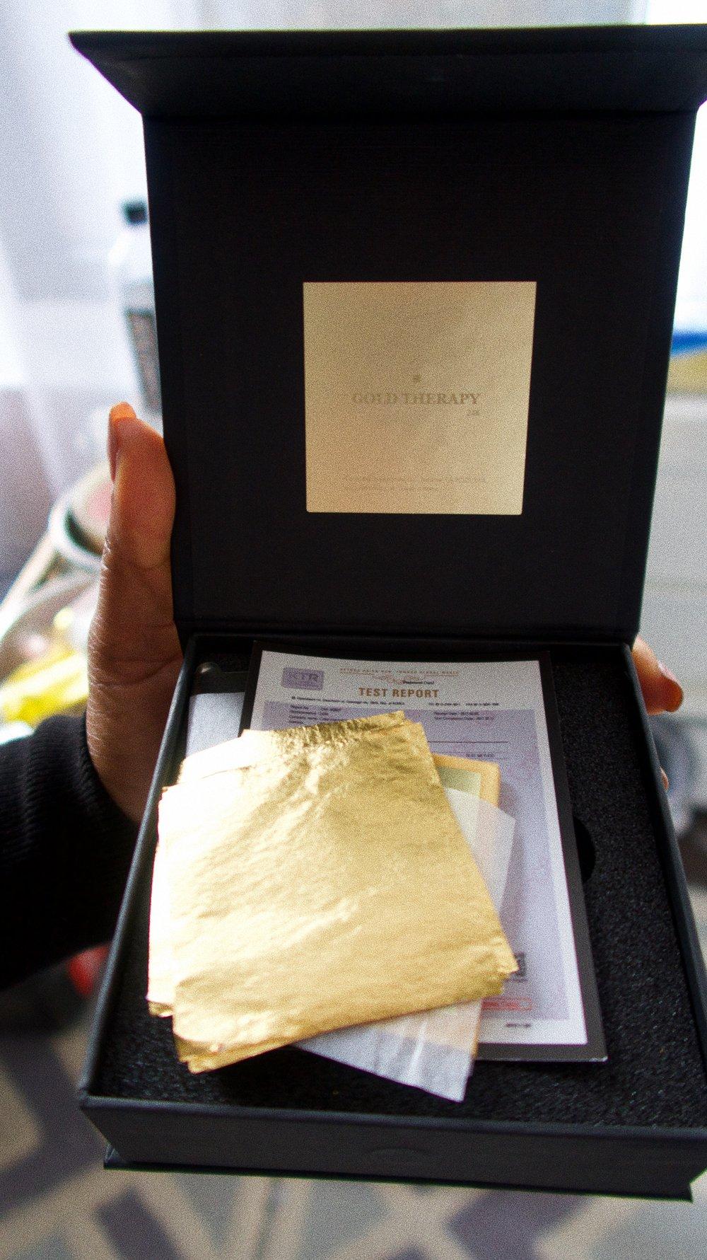 24 KT Gold foil used for facial