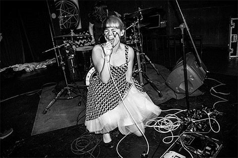 Happy Fangs at @silverlakelounge (photo by: @byericalauren)  See more at pastemagazine.com