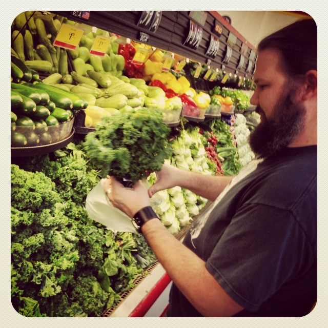 Shopping for the Dynabest shoot. Kale for everyone!