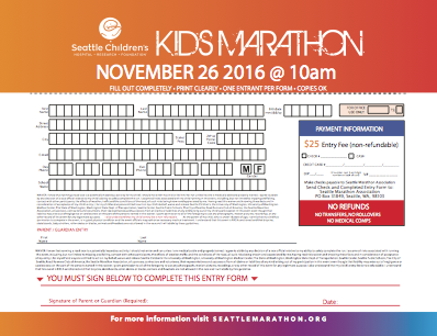 KIDS MARATHON ENTRY PDF
