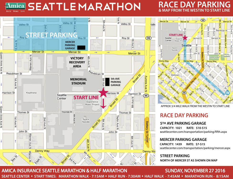 Race Day Parking Map