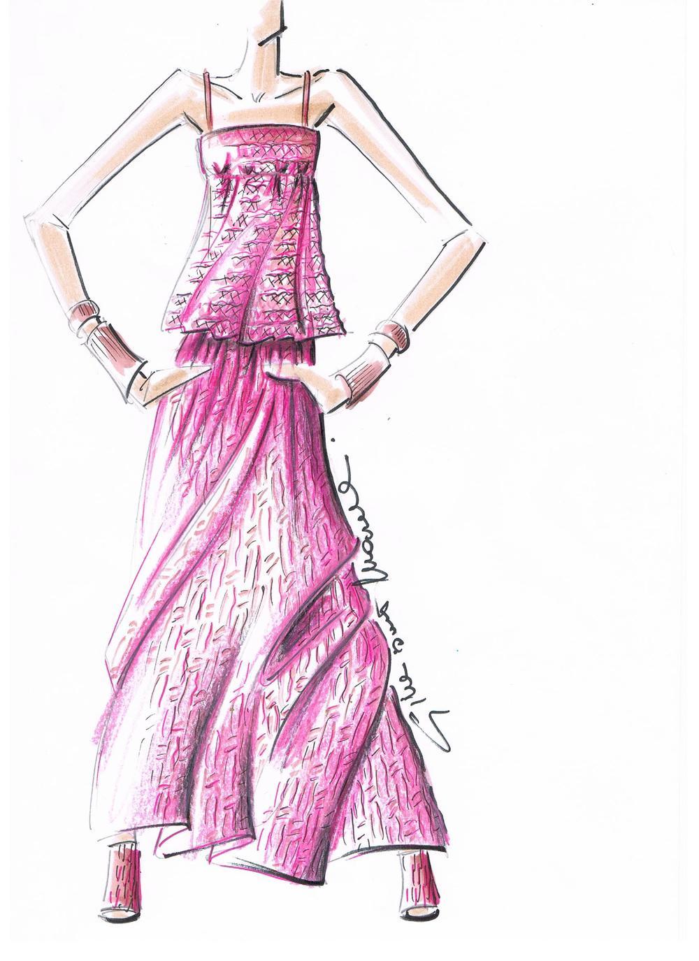 Giuliano&GiusyMarelli_Collezione-SS-2000_Romantic-Sporty-Life_Figurino_PinkPlissè_Transparent_Top_Skirt_Made-in-Italy_Maglieria_Maglia_Knit.jpg