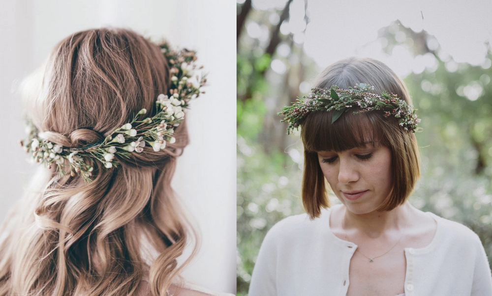 Left via Paulina Weddings // Right via Willow & Co x Lime Tree Bower