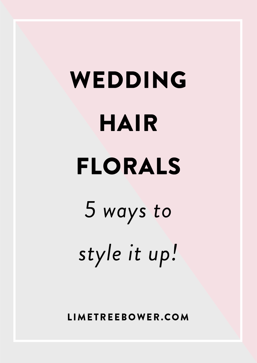 Wedding hair flowers 5 ways to style it up lime tree bower most of us dont get a cool excuse to wear a beautiful flower crown every day even though wed secretly love to its no surprise why hair florals have izmirmasajfo